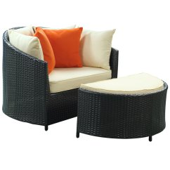Outdoor Chair And Ottoman Minnie Mouse Lounge Roxanne Modern Eurway
