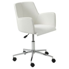 Modern White Desk Chair Extra Wide Chairs Sunny Office By Euro Style Eurway
