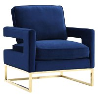 Modern Chairs | Austria Blue Velvet Chair | Eurway