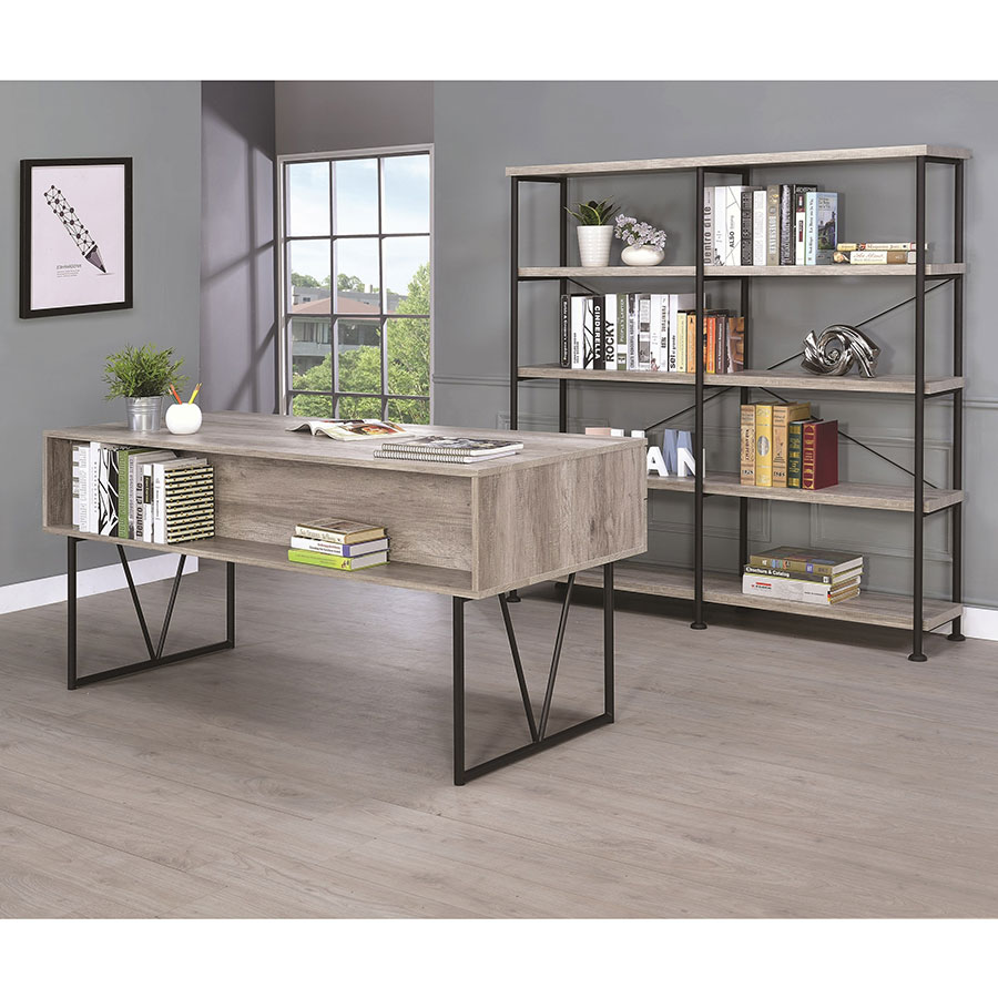 Modern Desks Avilla Gray Driftwood Desk Eurway Furniture