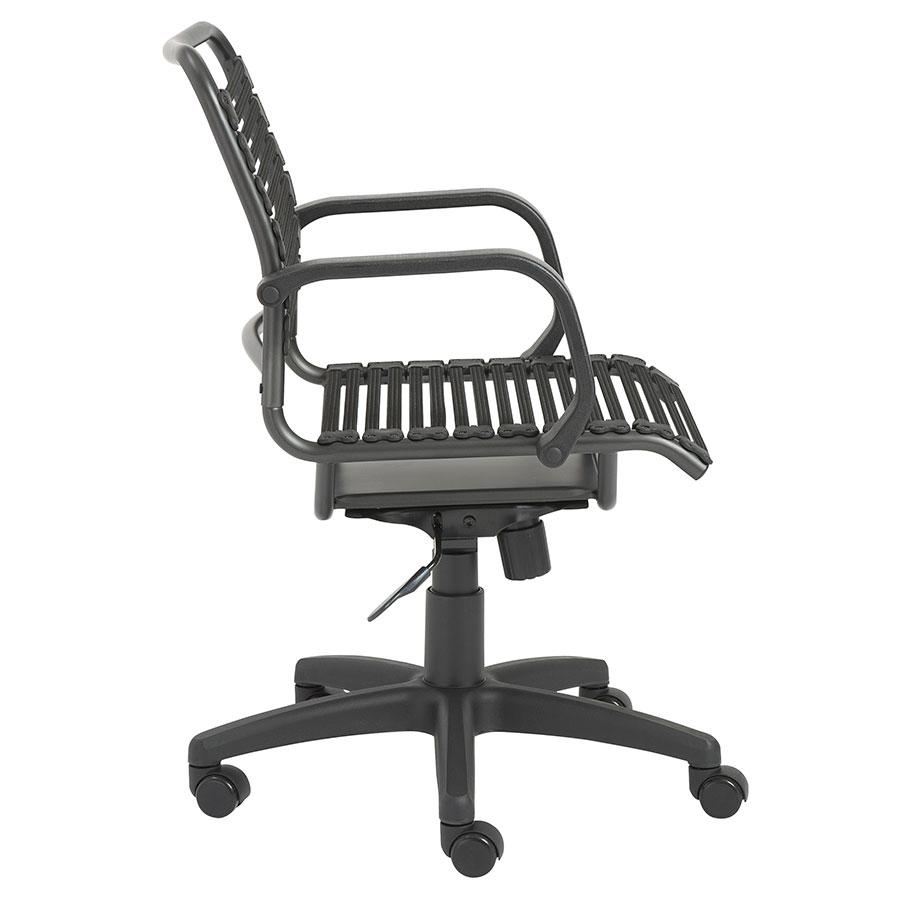 kitchen chairs on casters canada spa pedicure bravo flat mid back office chair | eurway furniture