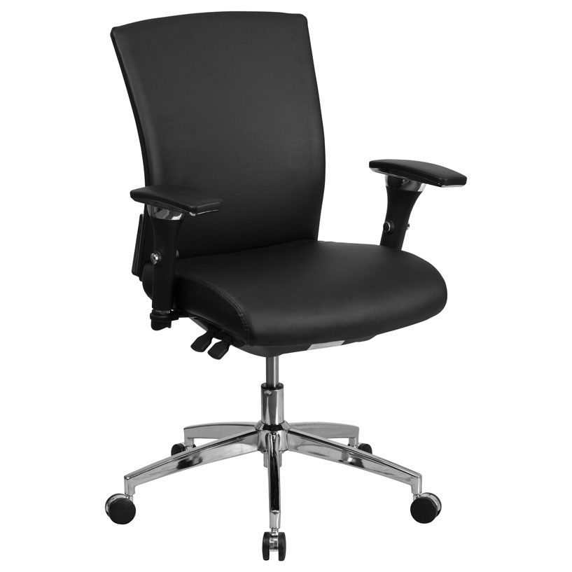 office chair 300 lb capacity high seat dining chairs elderly corona modern leather low back | eurway