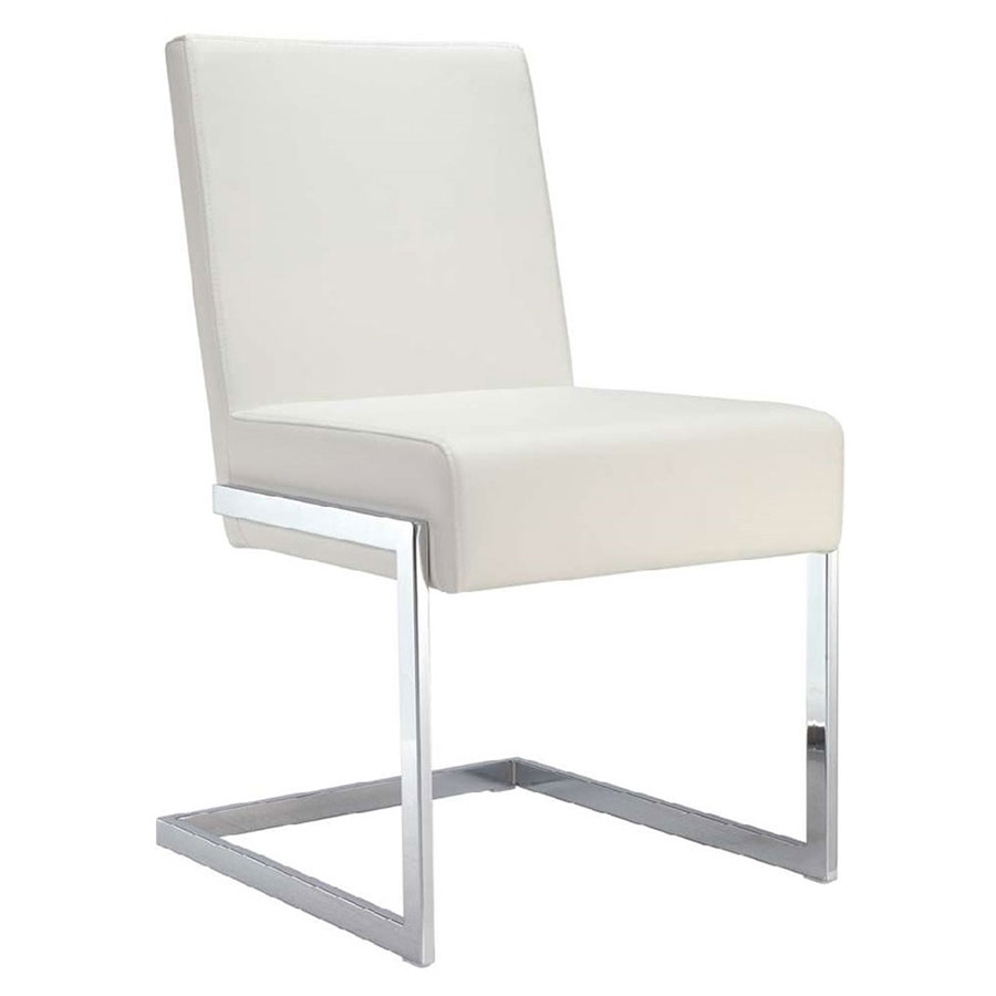 modern metal chairs best chiavari dining side arm eurway fonteneaux white faux leather chrome chair