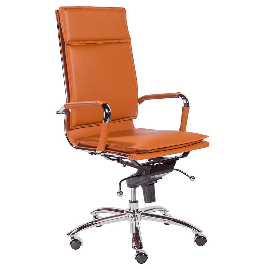 kitchen chairs on casters canada wicker argos gurue cognac high back modern office chair | eurway