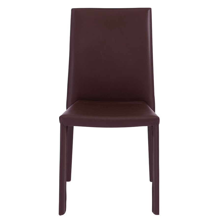 Hasina Brown Modern Stacking Chair Eurway Furniture