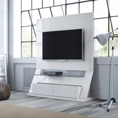 Modern Living Room Canvas Art Grey Carpet Ipswich White Entertainment Center | Eurway
