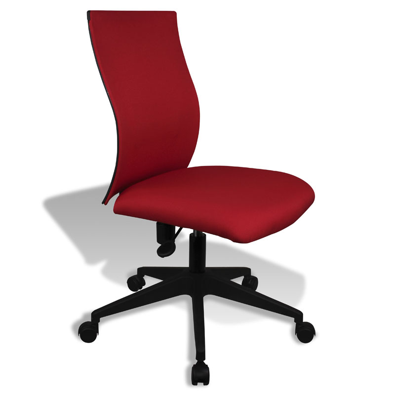 red office chair Kaja Red Modern Armless Office Chair | Eurway