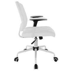 Upholstered Kitchen Chairs With Casters White Granite Ladera Modern Office Chair | Eurway Furniture