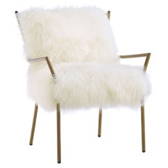 White And Gold Chair Antique Office Modern Chairs Levy Accent Eurway Call To Order Sheepskin