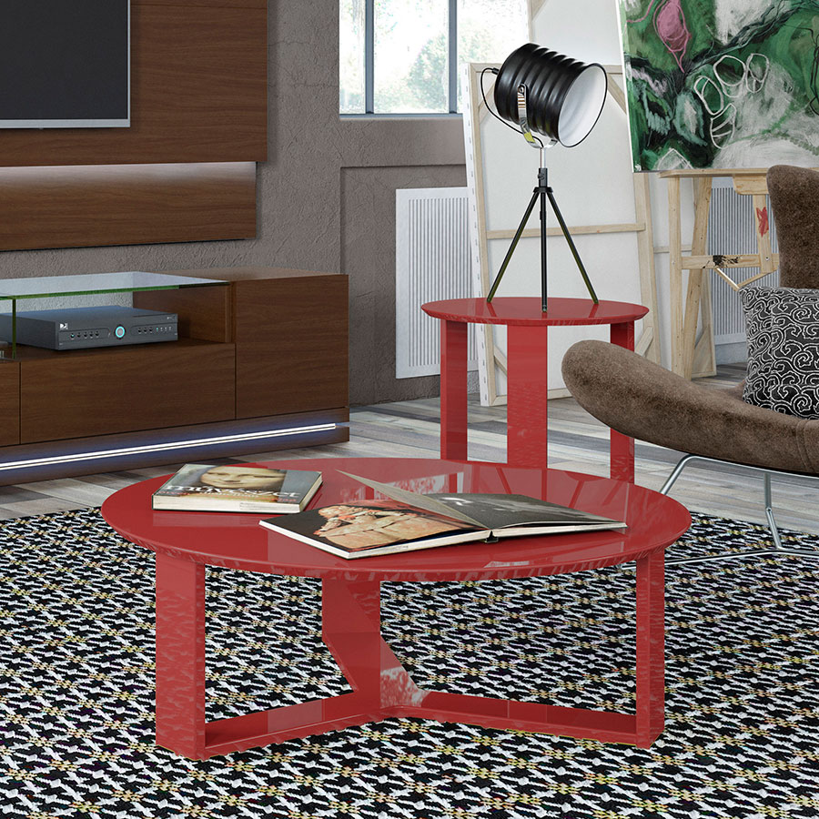 Markel Modern Red End Table Eurway Furniture