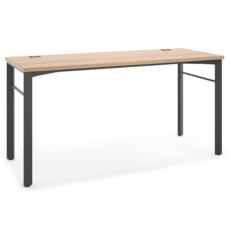 Marlin Modern 72 In Wheat Desk  Eurway Furniture