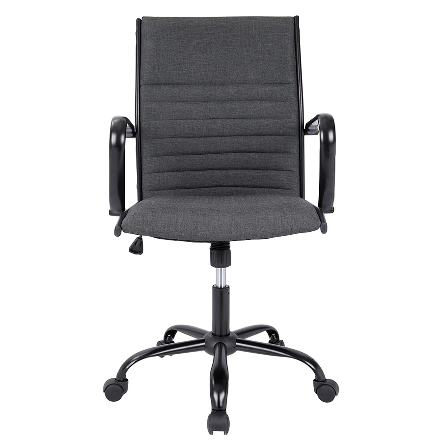 desk chair swivel no wheels patio set with chairs mencken charcoal modern office | eurway