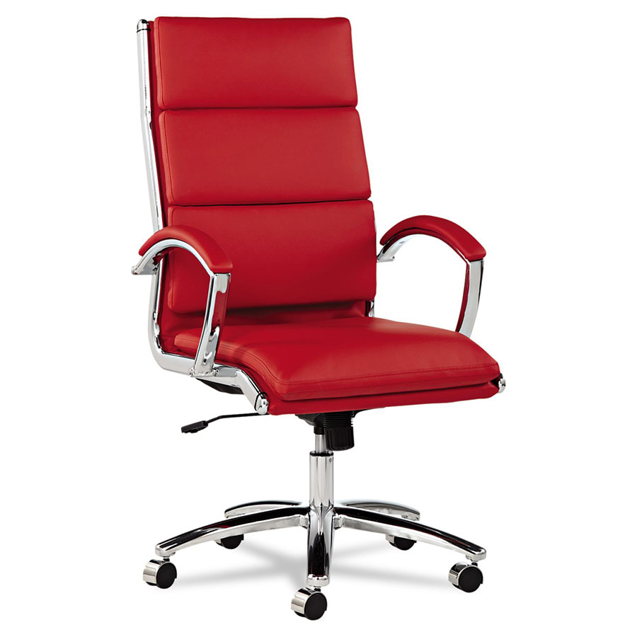 red office chair Napoli Red Modern High Back Office Chair | Eurway