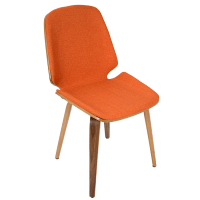 Modern Dining Chairs | Satchel Orange Chair | Eurway