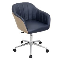 Modern Office Chairs | Sherwin Navy Office Chair | Eurway