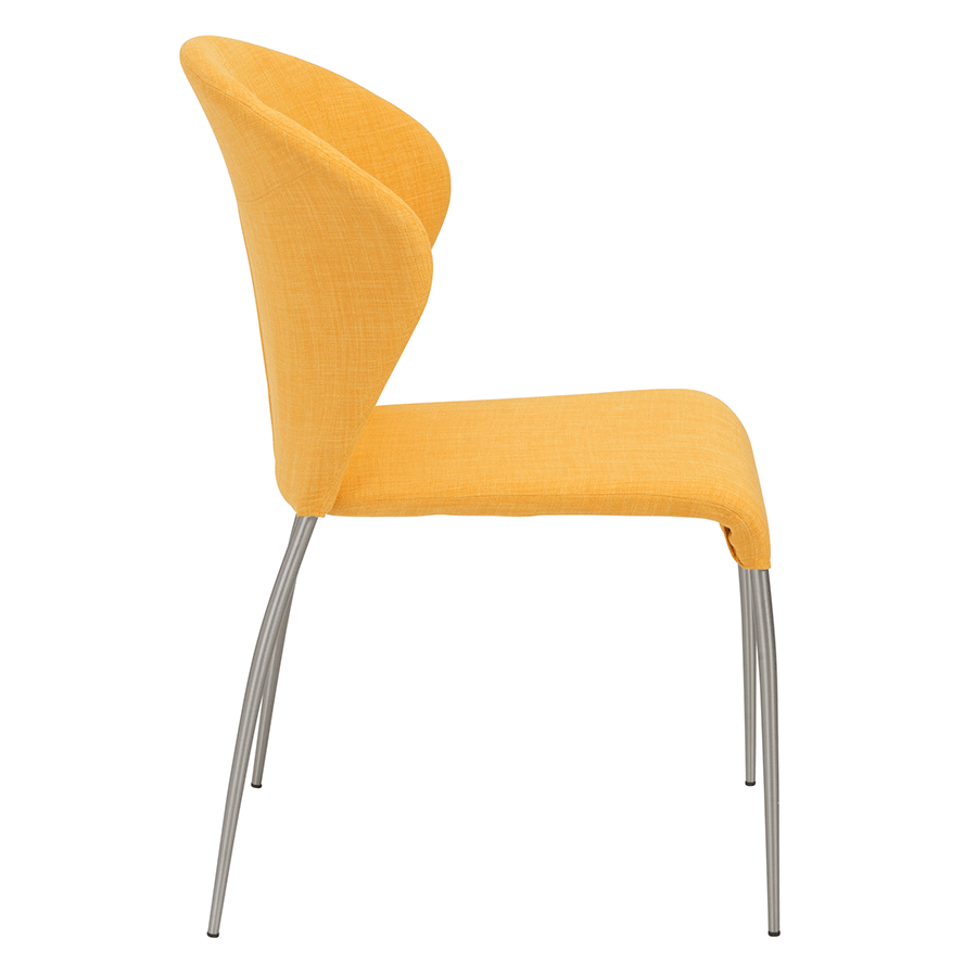 Modern Dining Chairs  Star Yellow Side Chair  Eurway