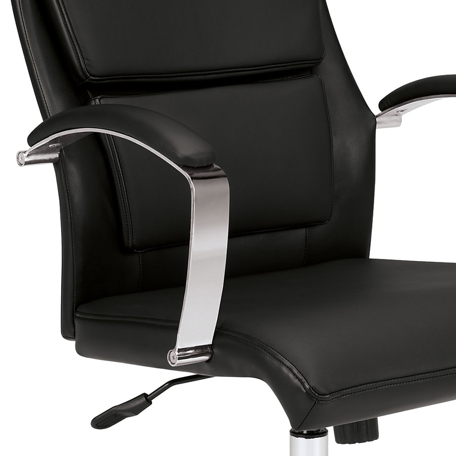 Victory Black Modern Office Chair Eurway Furniture