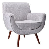 Modern Lounge Chairs | Carson Light Grey Chair | Eurway