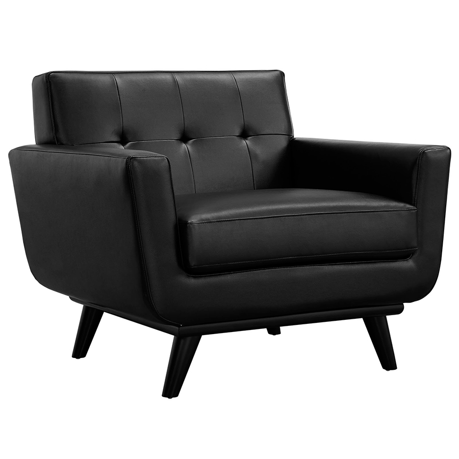 Empire Modern Black Leather Chair  Eurway Furniture