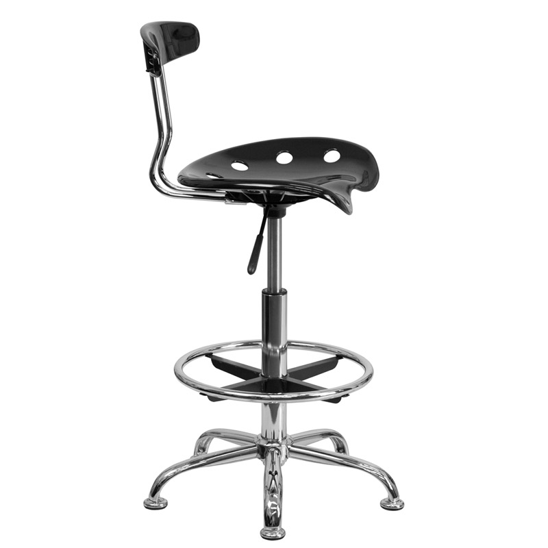modern drafting chair black wicker rocking chairs stools task eurway tractor seat stool