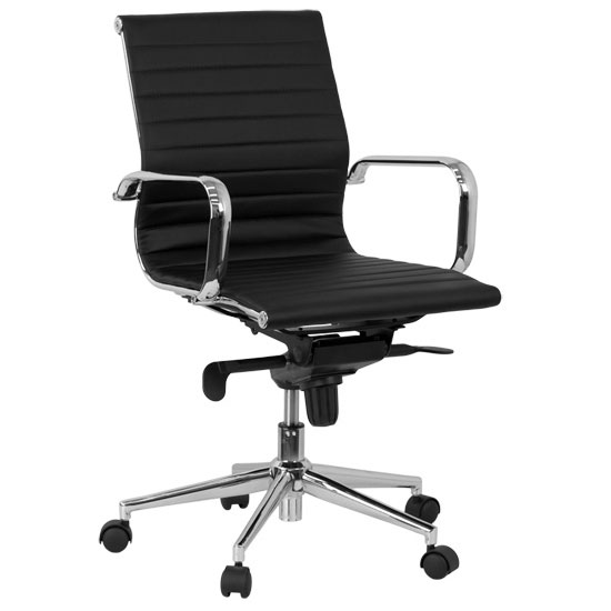 contemporary office chairs bailey chair for dogs modern desk eurway channel low back in black