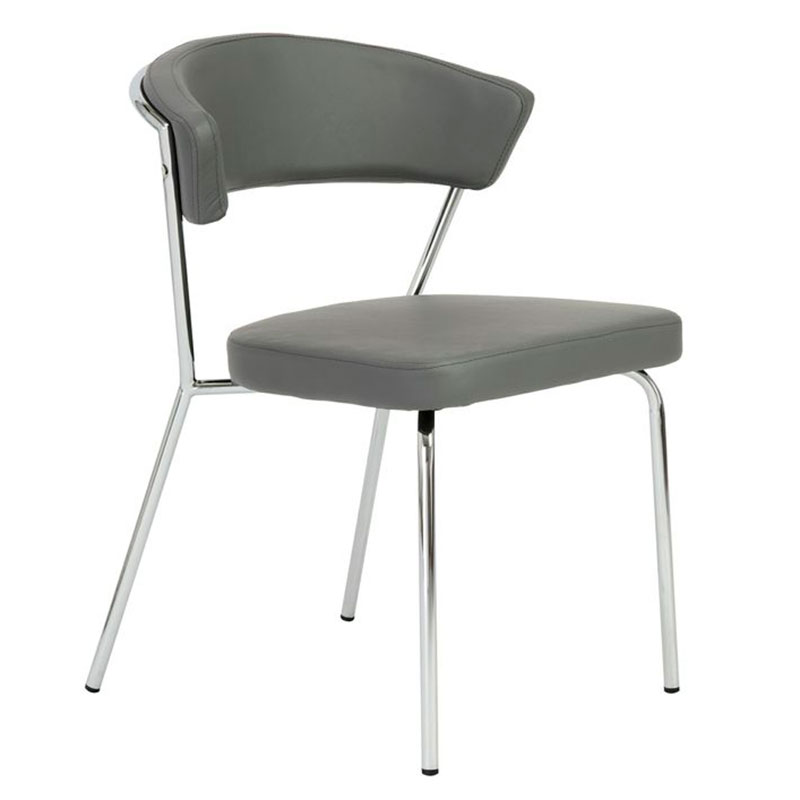 modern metal chairs royal blue accent chair dining side arm eurway draco gray
