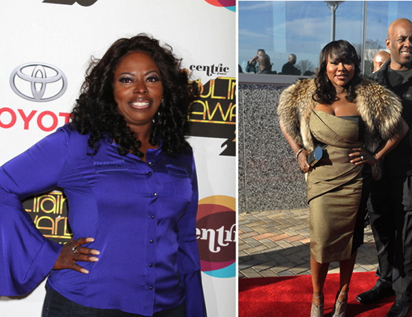 Angie Stone (L) and LaTocha Scott
