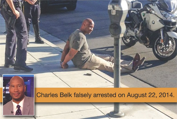 Charles Belk takes his battle from the curb side to Capitol Hill.