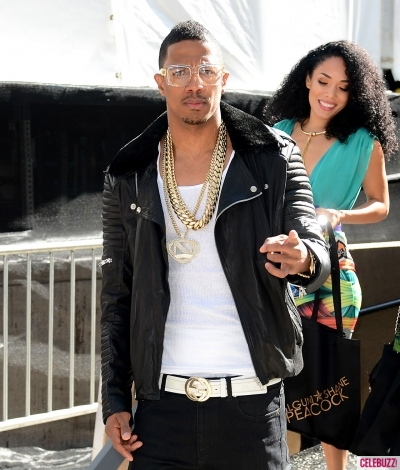Nick Cannon and Kreesha Turner at the Falguni And Shane Peacock show during New York Fashion Week on September 10, 2014 in New York City.