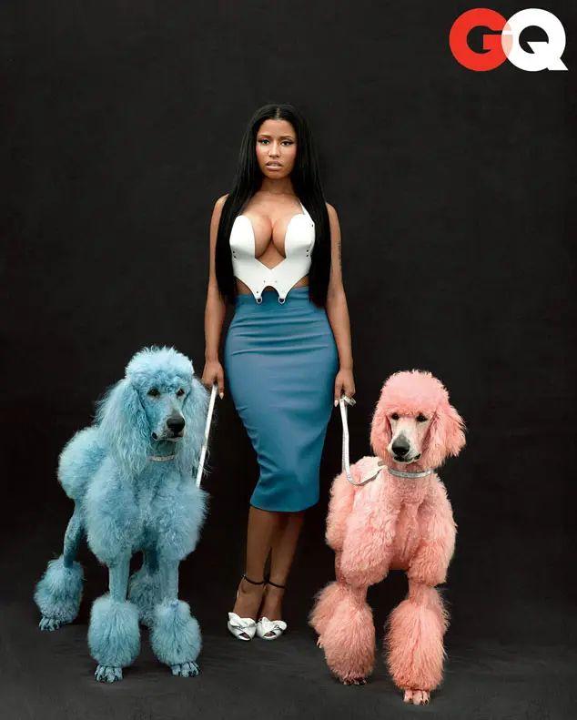 Nicki Minaj in the November 2014 issue of GQ Magazine