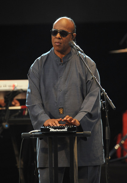 """Musican Stevie Wonder performs to announce his """"Songs in the Key of Life Performance"""" tour at Central Park SummerStage on August 17, 2015 in New York City"""