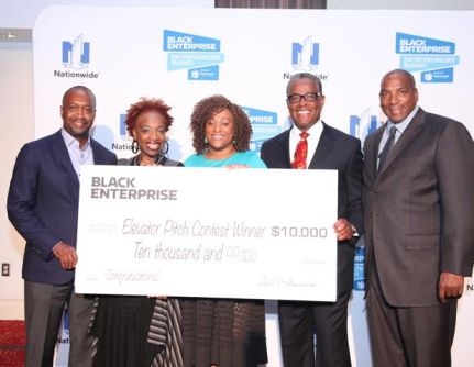 (l-r): Film Life Founder and CEO Jeff Friday, Motivational Speaker Lisa Nichols, Camille Newman, VP Channel Marketing AT&T Elroy Cartwright, CEO of Black Enterprise Earl G. Graves, Jr.