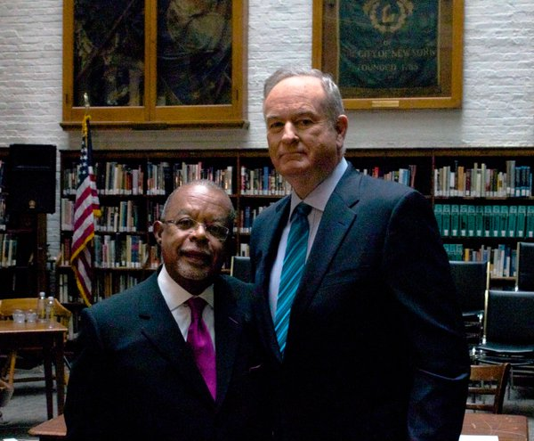 """Dr. Henry Louis Gates Jr. with Bill O'Reilly on """"Finding Your Roots"""""""