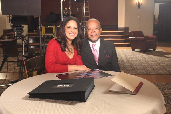 """Dr. Henry Louis Gates Jr. with Soledad O'Brien on """"Finding Your Roots"""""""