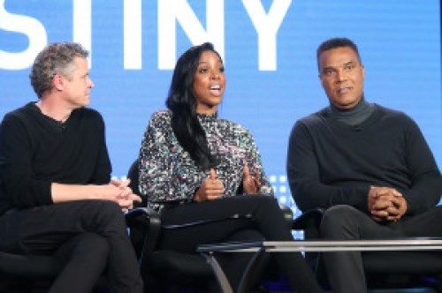 (L-R) Jason Sands, executive producer, host Kelly Rowland, and Frank Gatson, creative director/choreographer, speak onstage during the BET-Chasing Destiny panel as part of the Viacom portion of This is Cable 2016 Television Critics Association Press Tour at Langham Hotel on January 6, 2016 in Pasadena, California.