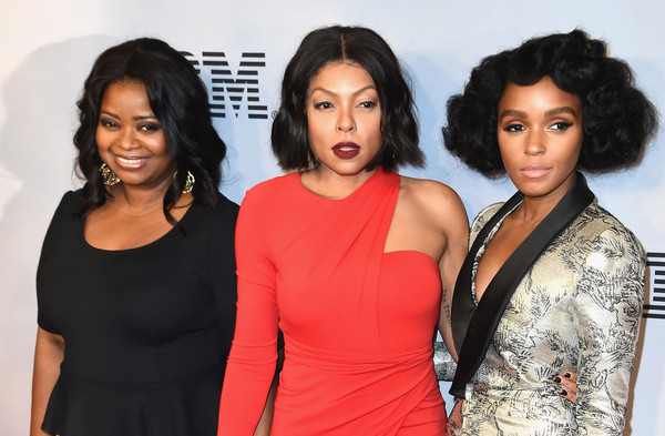 "Octavia Spencer, Taraji P. Henson and Janelle Monae attends the ""Hidden Figures"" New York Special Screening on December 10, 2016 in New York City."