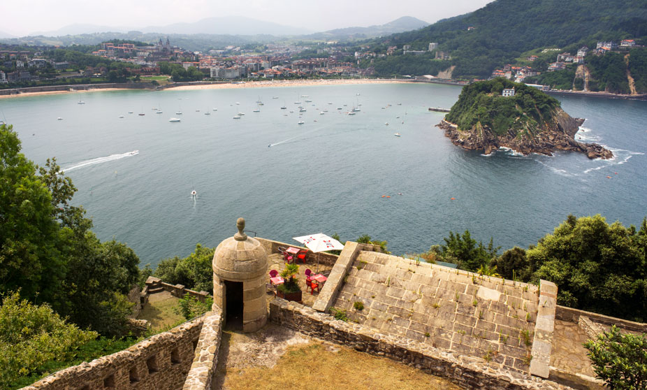 Views from the Mount Urgull, San Sebastian, Spain