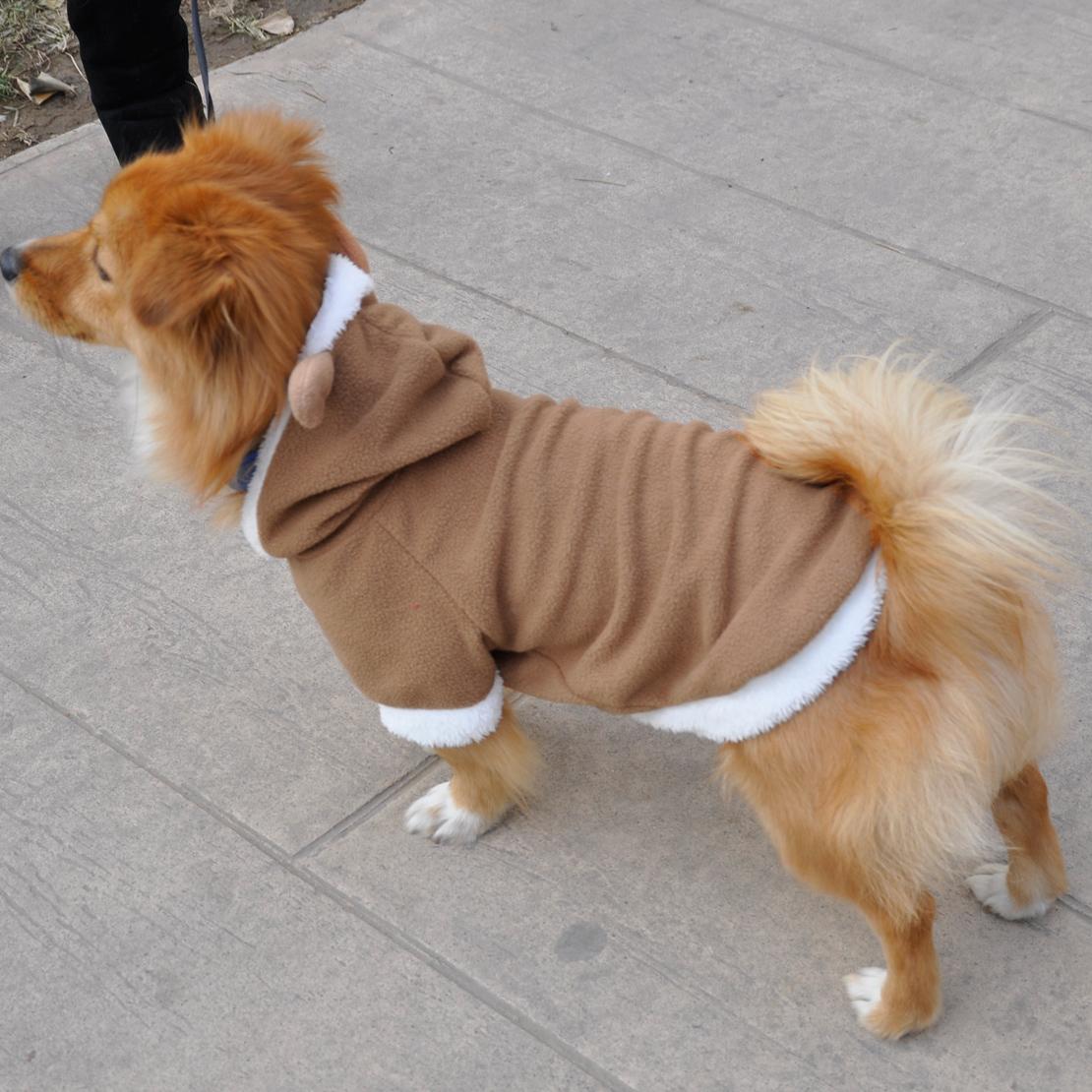 Reindeer Puppy Pet Dog Cat Costume Coat Hoodie Clothes