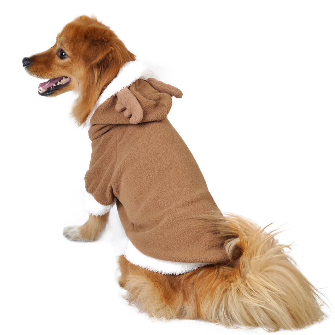 Reindeer Puppy Pet Dog Cat Clothes Costume Coat Hoodie