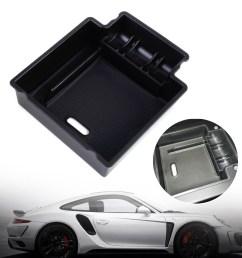 car glove box armrest secondary storage box for 2006 2015 porsche  [ 1110 x 1110 Pixel ]