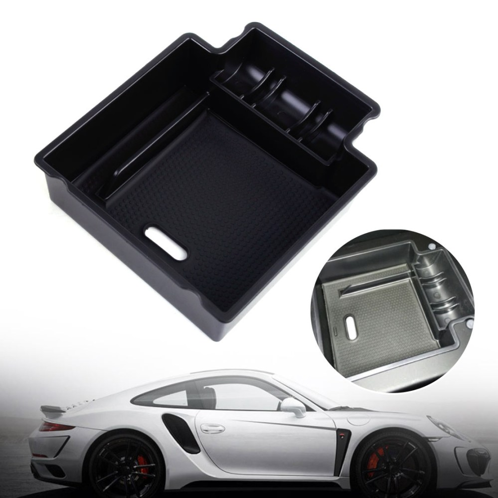 medium resolution of car glove box armrest secondary storage box for 2006 2015 porsche