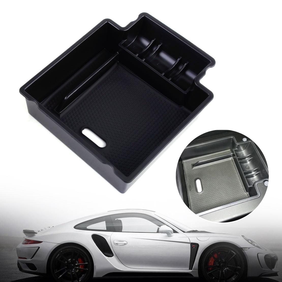 hight resolution of car glove box armrest secondary storage box for 2006 2015 porsche