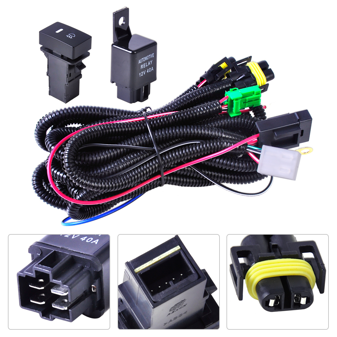 hight resolution of wiring harness sockets switch for h11 fog light lamp ford focus acura nissan 728360607010