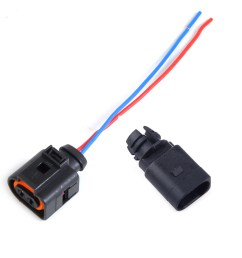 details about ambient air temperature sensor 2 pin connector plug wiring harness for audi vw [ 1110 x 1110 Pixel ]