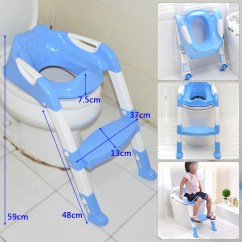 Potty Chair With Ladder Wedding Hire Newcastle Upon Tyne Blue Foldable Children Babies Kid Toddlers Toilet