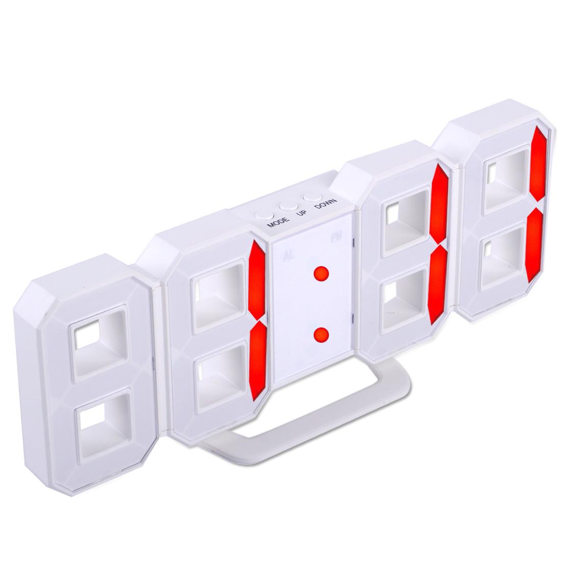 Moderne Wanduhr 3d Led Uhr Digital Alarm Snooze Usb Wall