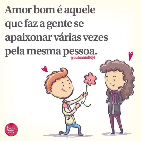 Amor bom e verdadeiro é assim