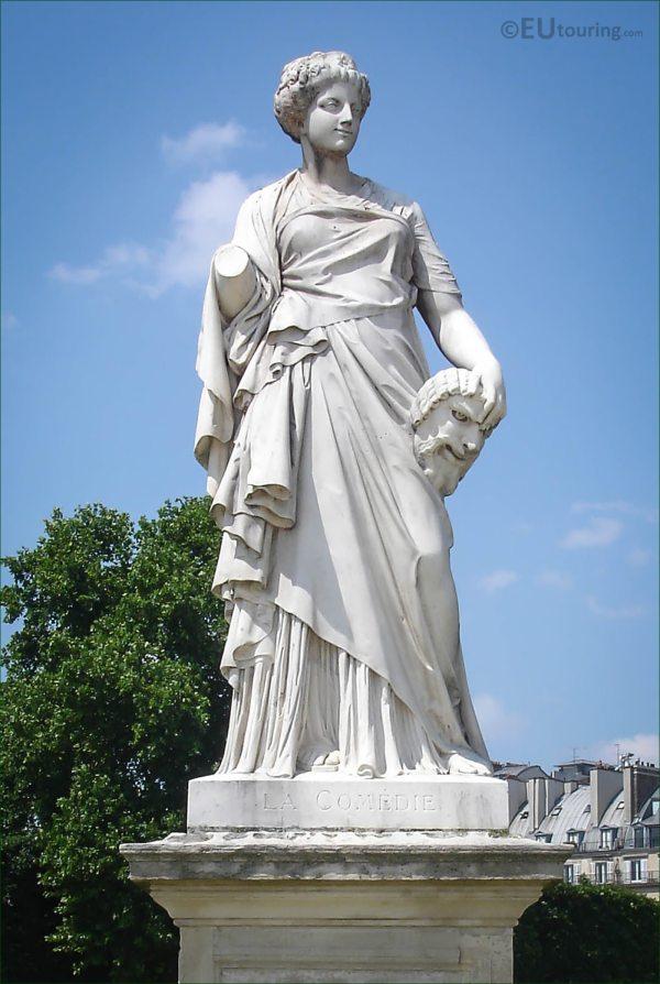 Hd Of La Comedie Statue Julien Roux In Paris