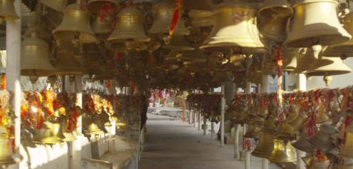 Thousands of bells shows the faith of pilgrims