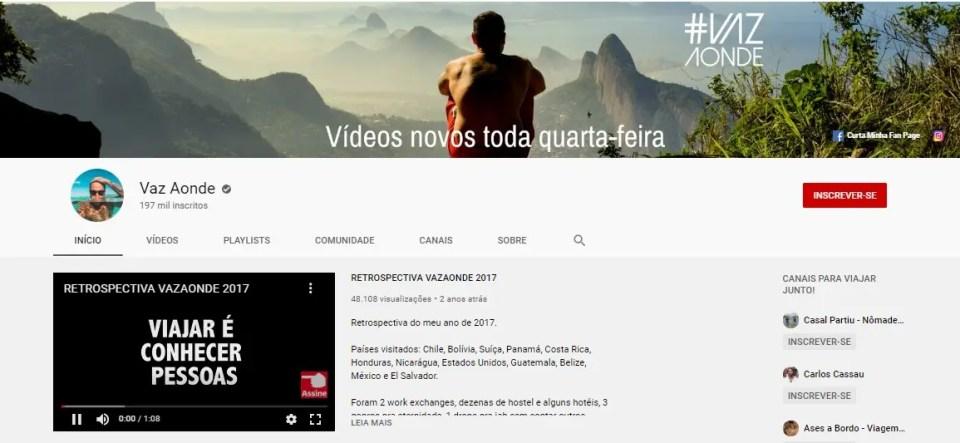 24 Youtubers de viagem para seguir em 2020 - VazAonde